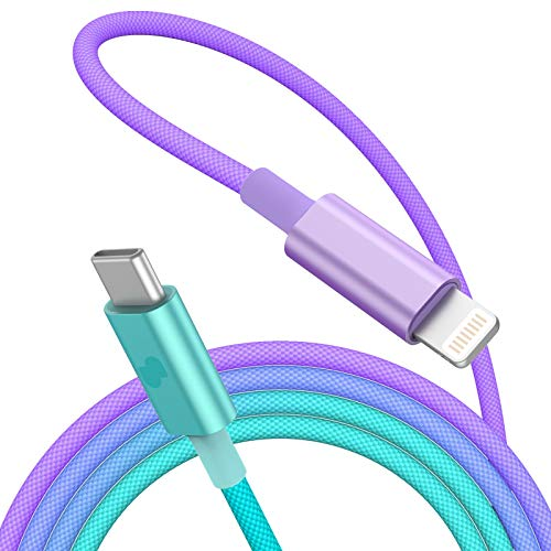 Multi Charging Cable Portable 3 in 1 Rainbow Tie Dye Throw Pillow USB Power Cords for Cell Phone Tablets and More Devices Charging