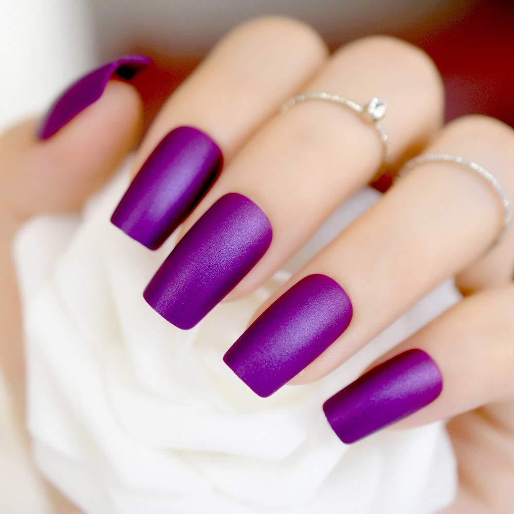 Lavender Color Acrylic Nails