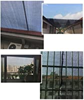 LANGYINH 90% Jardín Sombra de Sol Malla de Tela Sombra Tela de Malla Sombra con Ojales, para pabellón de pérgola, Negro y Azul,2x4m: Amazon.es: Hogar