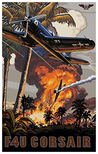 F4U Corsair Travel Art Print Poster by Paul A. Lanquist (12