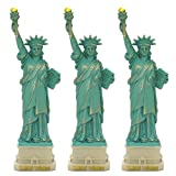 "(3 PACK) New York City Party Supplies, 4"" Statue of Liberty Statues Replica Gifts with Copper Tint; Statue of Liberty Souvenir Figurines from New York City Souvenirs"