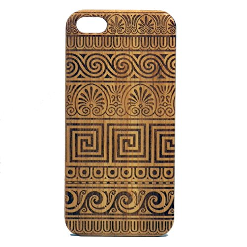Greek Fret Pattern iPhone 6 Plus or iPhone 6S Plus Bamboo Case/Cover by iMakeTheCase | Grecian Fret Key Design. Meander Lines Tribal Tattoo | Wood Phone (Grecian Design)