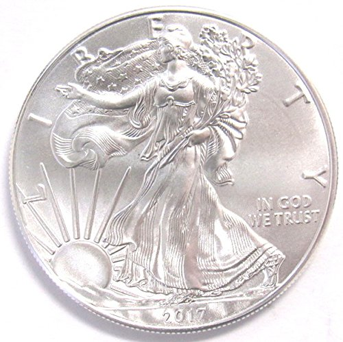 Dollar Silver Eagle Bullion Coin (2017 US Mint American Silver Eagle 1 oz. $1 Brilliant)