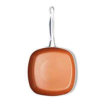 Gotham Steel Copper Square Shallow Pan