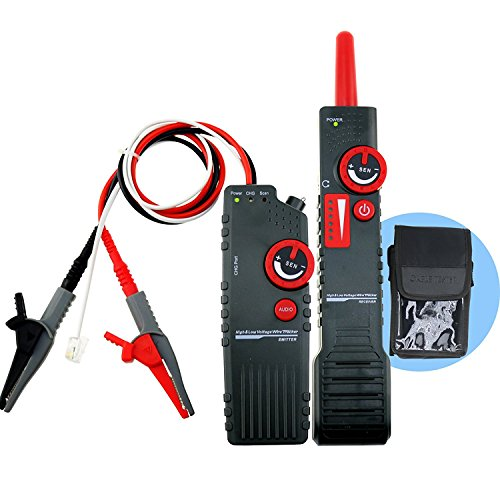Underground Cable Locator Wire Locator Network Tester Break Finder for Pet Fence Wires Sprinkler Control Wire Metal Pipe Electrical & Telephone Wire Coax Cable Hidden Wire Buried Wires