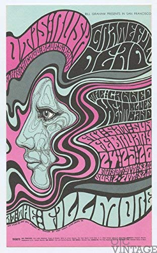 Bill Graham Postcard 51 Grateful Dead 1967 Feb 24