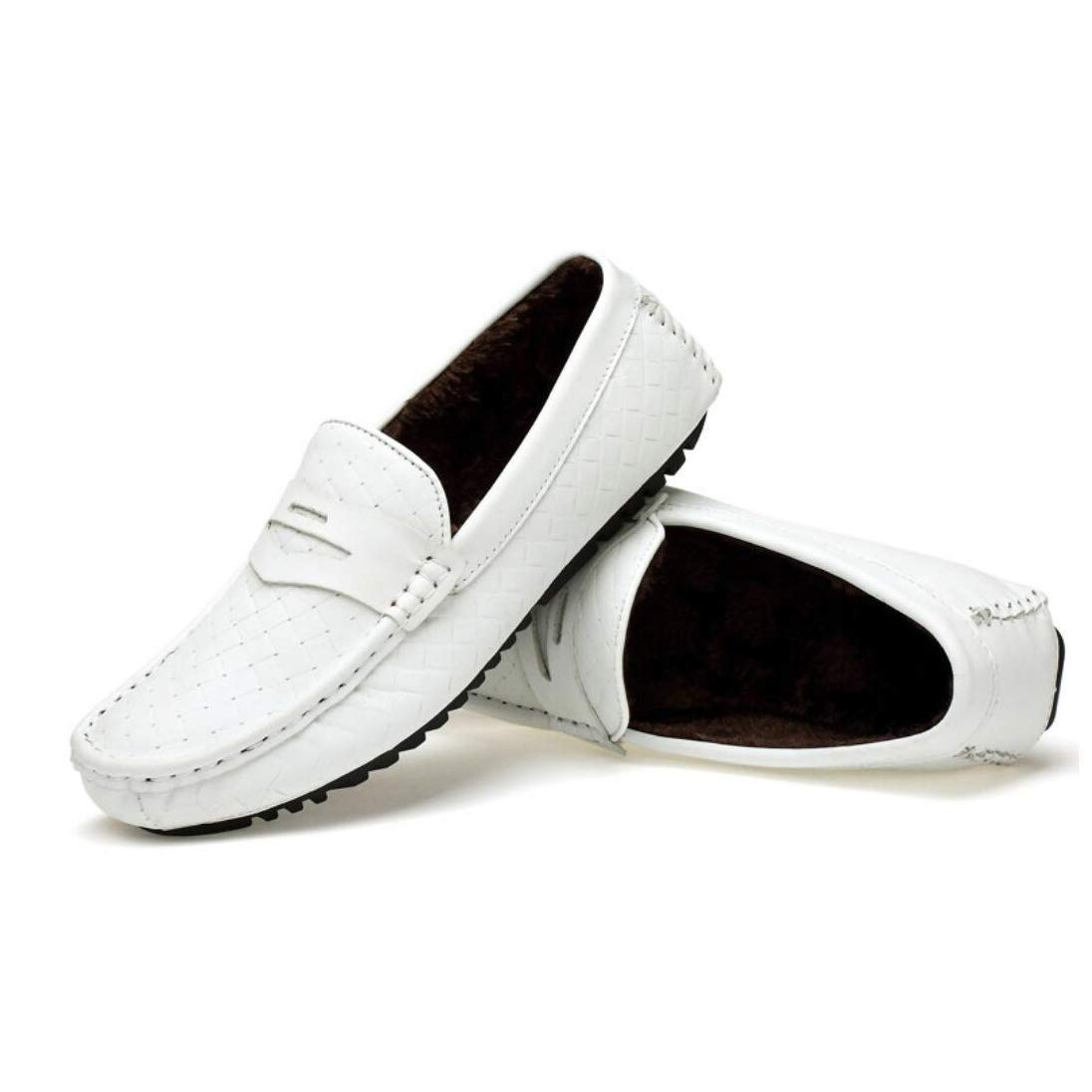 Herren Leder Frühling Komfort Komfort Komfort Loafers & Slip-Ons, Hohlen Atmungsaktive Peas Schuhe, Koreanische Mode Herren Casual Fahr Schuhe (Farbe   D, Größe   45)  23707f