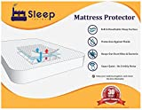 "Sleep Factory - Mattress Protector | Hypoallergenic, Waterproof, Comfort Collection 100% Jersey Cotton Top - Twin Size, Up to 18"" Depth, White"