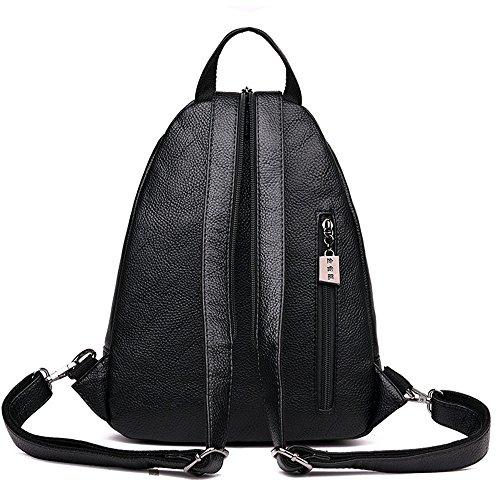 marrone 32 10 Moda Zaino nero Borsa tasca da da casual donna cm 26 Borsa da viaggio Borsa PHAdHO6n