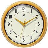 Infinity Instruments Retro Metal Round Clock (SAFFRON)