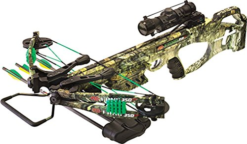 PSE Fang 350 XT Crossbow Package with 4x32 Multi-Reticle Scope Mossy Oak