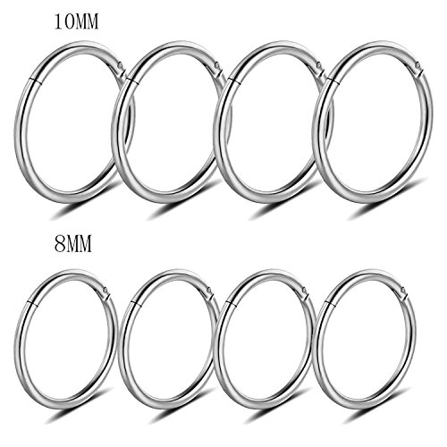 Adramata 16g Cartilage Hoop Earrings for Men Women Septum Tragus Daith Earrings Nose Piercing Jewelry by Adramata (Image #6)