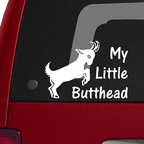 My Little Butthead - Goat Mom Kids, Vinyl Decal Sticker - 15 Colors Available!