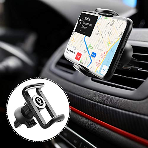 JunDa Car Phone Holder 360-Degree Rotation Cell Phone Holder Compatible with 4 to 7 inch Smartphones,Rotating  Car Air Vent Mount