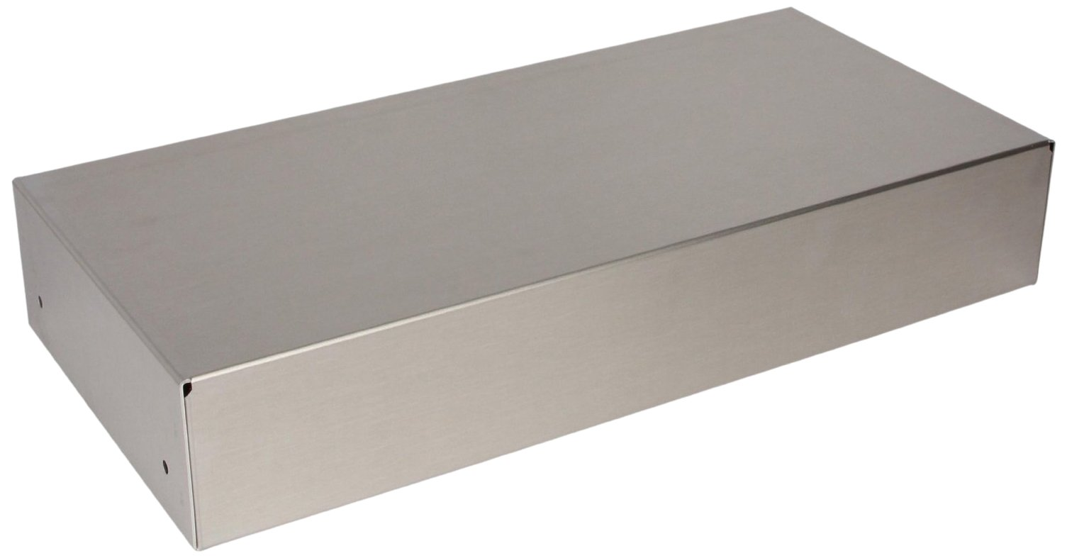 BUD Industries AC-423 Aluminum Chassis, 17'' Length x 7'' Width x 3'' Height, Natural Finish