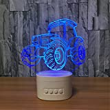 Best Portable Speakers Bluetooth Le Ds - Tractor 3D ILLusion Wireless Bluetooth Speaker Night Light Review