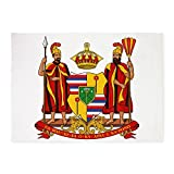 CafePress - COA Of Hawaii - Decorative Area Rug, 5'x7' Throw Rug