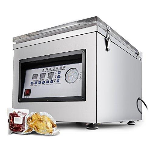 BestEquip Chamber Vacuum Sealer Highly Efficient Vacuum Sealer Stainless Steel Bag Sealer 320MM Vacuum Sealer Machine for Home and Commercial Using