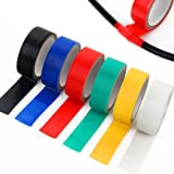 Mabox 6 Colored tape Vinyl Electrical Tape/PVC Electrical Wire Insulating Tape/17ft Length 18mm Wide