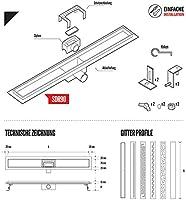 STEIGNER Desagüe de Ducha Lineal 100 cm SDR90 Berlin Canalón Acero Inoxidable sifón Metálico: Amazon.es: Bricolaje y herramientas