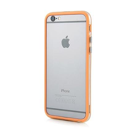 Carcasa Bumper para el Apple iPhone 6/6s - Funda Protectora para Bordes de PC y TPU en Naranja