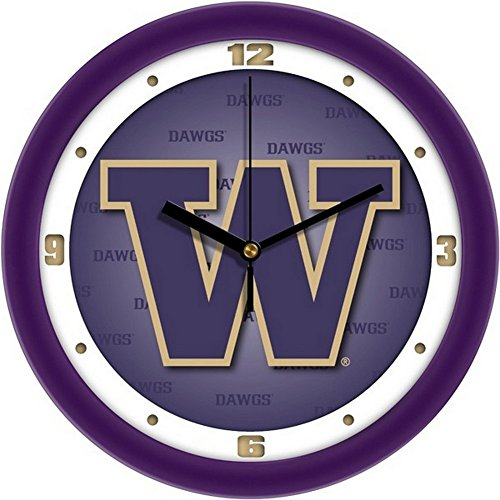 SunTime University of Washington Clock Dimensional Design Wall Clock