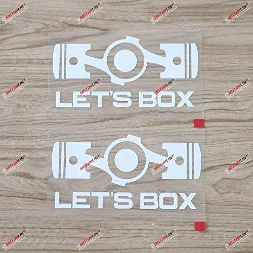 2 X Weißer Vinyl Aufkleber Mit Aufschrift Let S Box Boxer Engine Flat 4 Für Subaru Sti Wrx Küche Haushalt