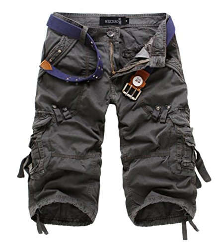 Unisex Teen Boys Hip-hop Stylish Summer Beach Jogger Trouser Casual Camouflage Shorts Military Wild Cargo Pants Cropped Trousers by Antique Style