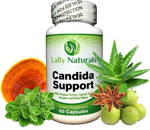 Candida Cleanse and Support Supplement ★ Extra Strength ★ All Natural Herbal Formula & Enzymes Yeast Infection Treatment Includes Caprylic Acid, Oregano Oil, Cellulase and Black ()