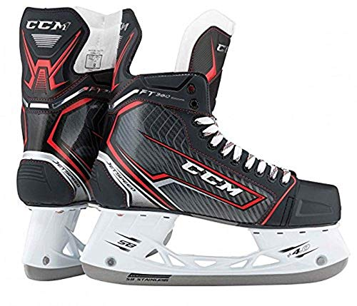 CCM Unisex JetSpeed SR Player Hockey Skate, Adult, Black, 11.5