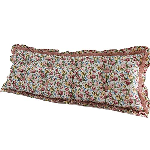 cotton Korean large backrest / princess wind cotton long pillow / active printing three-dimensional sofa pillow / ( Size : 15053cm , Style : Right angle ) by Cushion
