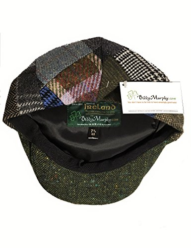 f936ebda Irish Hats for Men John Hanly Men's Flat Irish Hat Patchwork 100% Wool Made  in