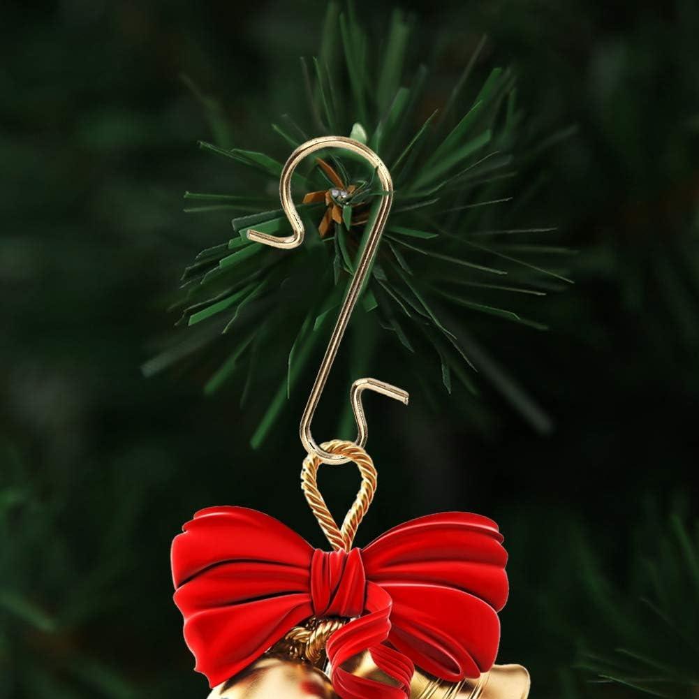 100Pcs S-Shaped Hangers Christmas Tree Hooks Ornament Hanging Hooks Toys Holder