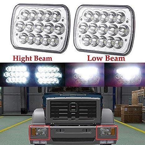 Amazon Com 7x6 Led Headlights Square Sealed Beam Headlamp Universal
