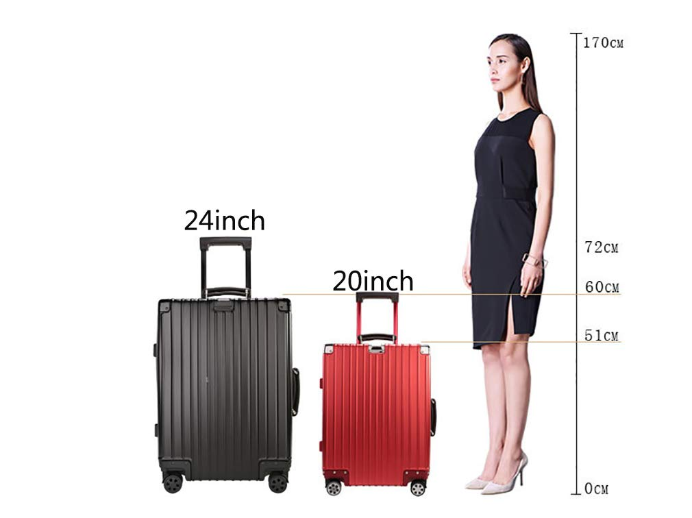 Rayem Fashion Luggage, Universal Wheel Aluminum Frame Trolley case, Ultra-Light and Durable Password Suitcase (Color : Black, Size : 20) by Rayem (Image #3)