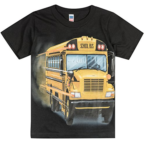 Shirts That Go Little Boys' Big Yellow School Bus T-Shirt 2 - Bus Black T-shirt
