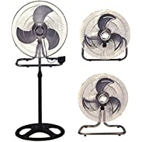 PrimeTrendz TM 3 in 1 High Velocity 18 Inch Industrial Grade Floor Stand Mount Oscillating Blower Fan (Stand + Desk + Wall Fan) by USA Cash and Carry!