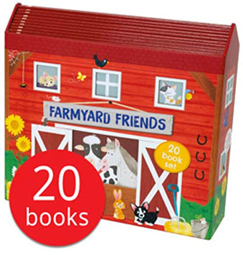 Farmyard Friends 20 Books Collection Set (Goose on the loose, Goodnight Farm, Fox on the Farm, Dilly Duckling, Doras Eggs, Mummys Little Sunflowers, Old MacDonald had a Farm, The Three Little Pigs, H