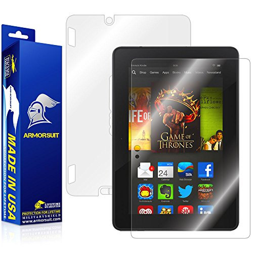ArmorSuit Amazon Kindle Fire HDX 7'' Screen Protector + Full Body, MilitaryShield Full Skin + Screen Protector For Amazon Kindle Fire HDX 7'' - HD Clear Anti-Bubble by ArmorSuit