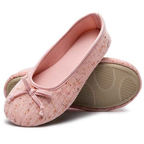 Chaussures Ballerine Mémoire de Rose Femme Pantoufles de HomeTop Dames Confortables Couleur Tricot qFZ8vZ
