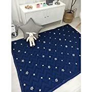 IHEARTYOU Thick Cotton Baby Crawling Cushion Non-slip Fresh Style Toddlers Mat Kids Play Mat Kids' Room Rug Activity Floor Carpet, Little Star