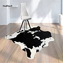 Cool Cow Print Rug 5.2x4.6 Feet faux Cow hide rug Animal printed carpet for home pattern 1 FindFine®