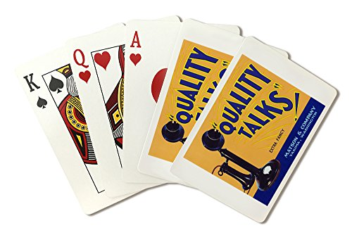Yakima, Washington - Quality Talks Brand Apple Label (Playing Card Deck - 52 Card Poker Size with Jokers)