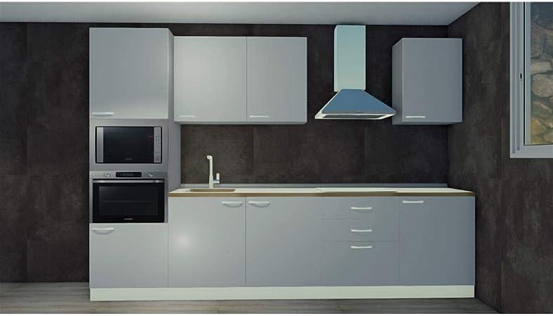 Ultrasistem Cucina Lineare 3 02 Metri Disponibile In Vari Colori Amazon It Casa E Cucina