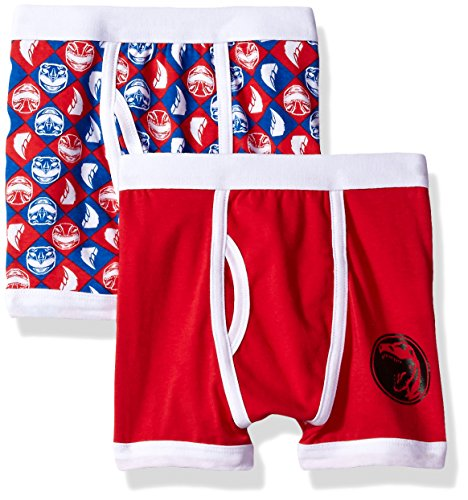 Power Ranger Boys Red Underwear 2 Pack, Multi, 4 -