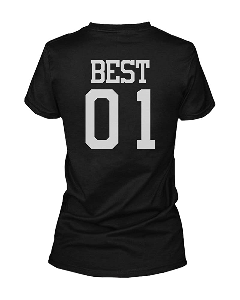 Amazon.com: Best 01 Friend 01 Matching Best Friends T Shirts BFF Tees For Two Girls Friends: Clothing