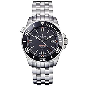 Davosa Swiss Argonautic Lumis TRITIUM 16150920 Men Wrist Watch Steel & Black