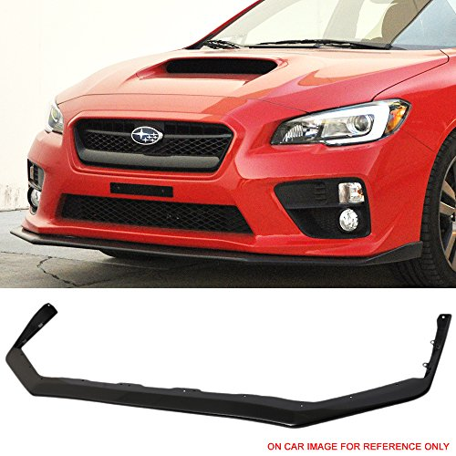 Pre-Painted Front Bumper Lip Fits 2015-2018 Subaru WRX STI | OEM Factory Style Glossy Black PP Front Lip Finisher Under Chin Spoiler Add On other color availble by IKON MOTORSPORTS | 2016 (Oem Front Lip)