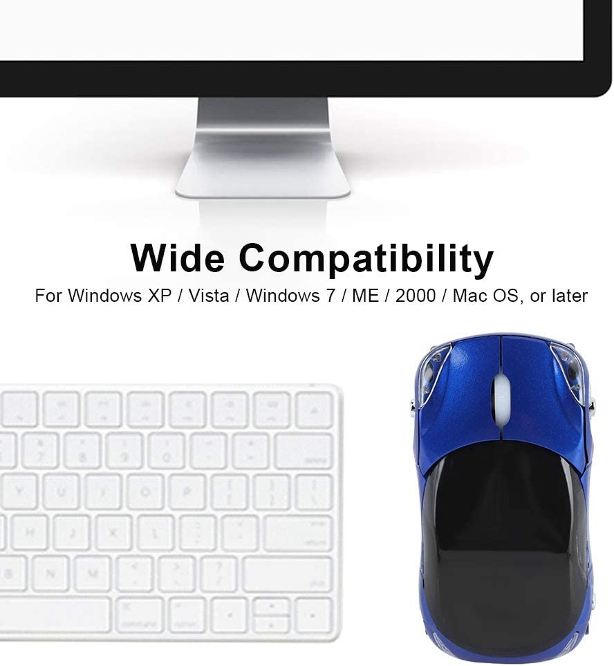 Blue Pasamer Wireless Mouse,2.4G Portable Wireless Mouse Bluetooth Optical Laptop Mouse 1600DPI for Tablet Gaming Office