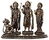 Top Collection Rama, Sita and Lakshmana Worshiped by Hanuman Statue - Hindu Gods Sculpture in Premium Cold Cast Bronze - 7.5-Inch Collectible Figurine